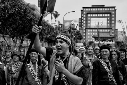 Aboriginal tribes protest against the Taiwanese government
